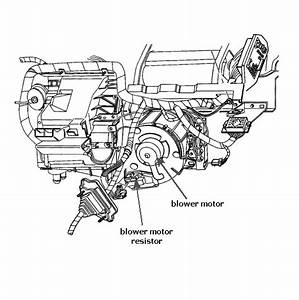 Where Is The Fan Resistor For The Heater Fan Located On A