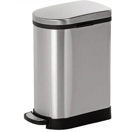 walmart kitchen garbage cans joyware 10 liter slim shaped stainless steel trash can