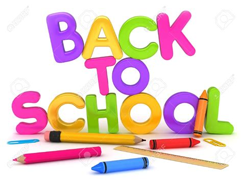 Back To School Colorful Text