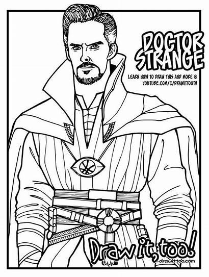 Coloring Strange Pages Dr Doctor Marvel Superhero