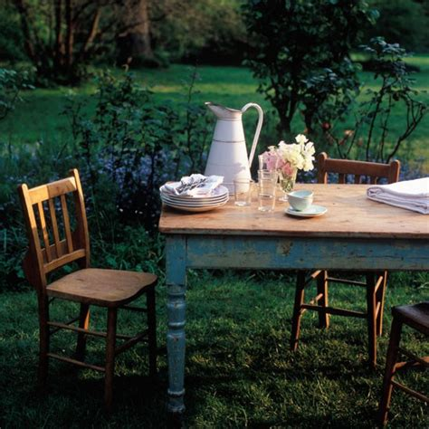 garden ideas garden furniture rustic table country