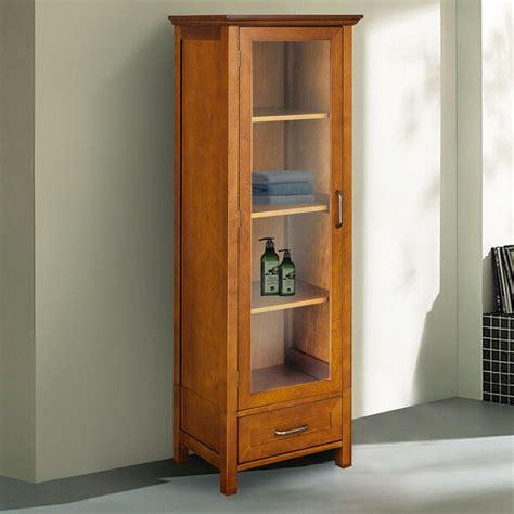 Oak Pantry Cabinet Linen Tall Kitchen Cupboard Bathroom