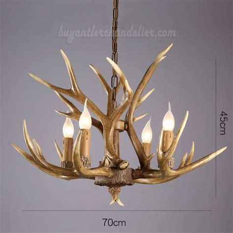 Elk Deer 4 Cast Antler Chandelier Hanging Lights