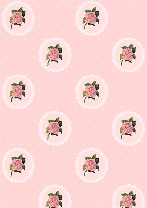 digital rose scrapbooking paper polka