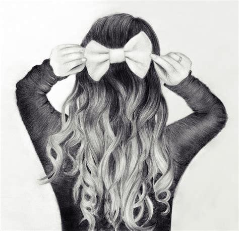 Girl Hair Drawing Girl Hair Tumblr Drawing Drawing Sketch Library