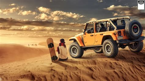 Jeep Wrangler Desert Off Road Wallpaper
