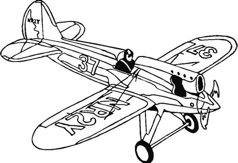 Coloring Airplane by Airplane Coloring Pages For Coloring Home