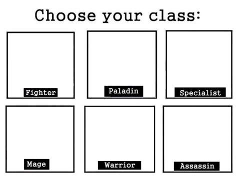 tumblr meme templates choose your class meme templates know your meme
