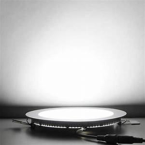 Pack w round recessed led panel light ceiling down