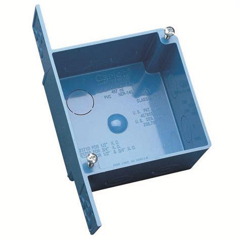 box auto pvc carlon 4 in pvc square ent outlet box 10 pack a5217de