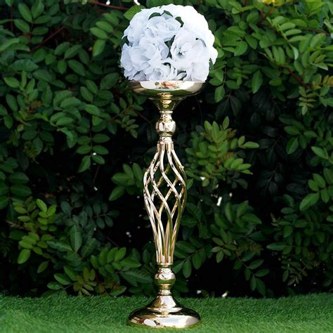 195 Tall Metal Wedding Flower Decor Candle Holder Vase