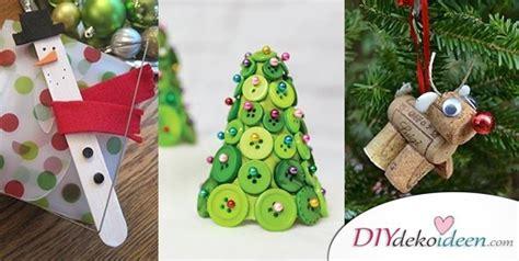 einfache diy bastelideen fuers weihnachtsbasteln mit kindern