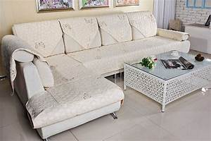 Cotton quilted embroidered sofa cushion couch slipcovers for 6 cushion sofa covers