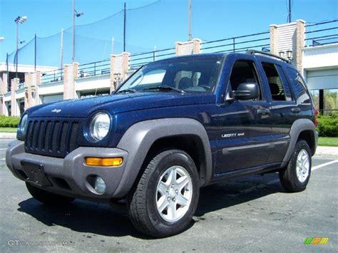 blue jeep patriot 2003 patriot blue pearl jeep liberty sport 4x4 49136036