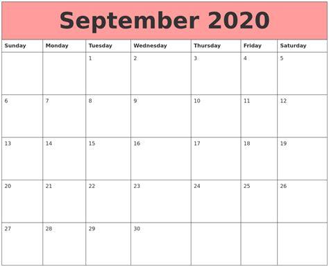 september  calendars  work