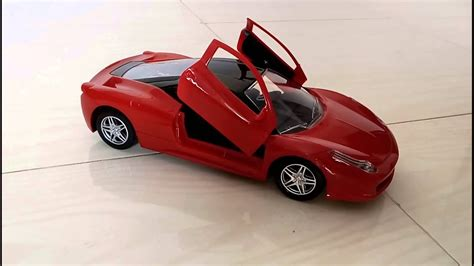 Kids Ferrari Remote Control Ride And Unboxing Lighting Car