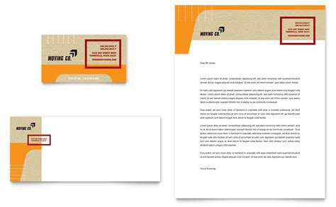 Movers & Moving Company Business Card & Letterhead
