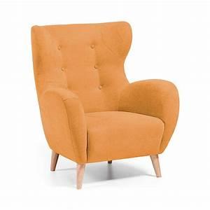 fauteuil scandinave tissu rembourre avec boutons With tapis de souris personnalisé avec canapé scandinave tissu