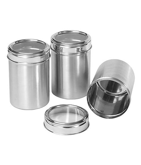 Dynore Stainless Steel Kitchen Storage Canisters (dabba