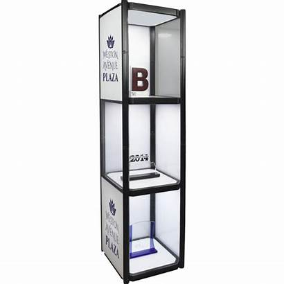 Display Portable Shelves Cabinet Collapsible Twist Case