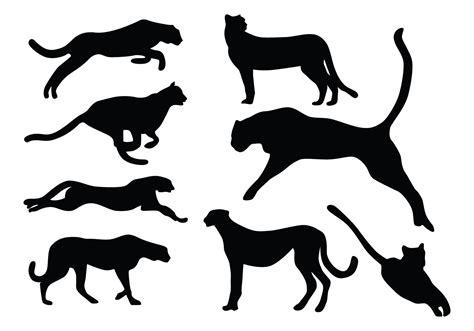 cheetah silhouette vectors   vectors