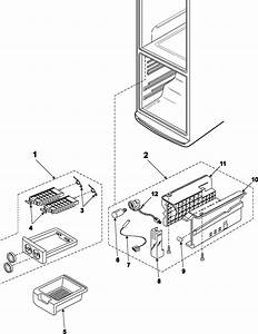 Ice Maker Diagram  U0026 Parts List For Model Rb1944slxaa Samsung