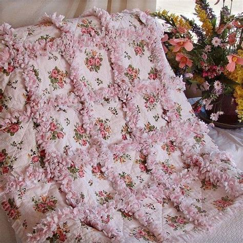 simply shabby chic baby blanket floral rag quilt shabby chic pinspiration pinterest rag quilt floral and blanket