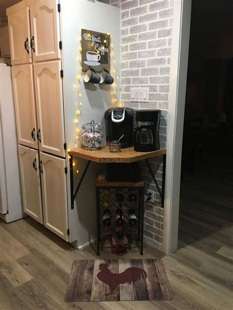 Building corner bar for small spaces coffee bar home coffee bar. 30+ Best Home Coffee Bar Ideas for All Coffee Lovers