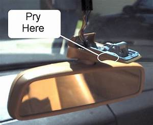 Needed  R129 Rear View Mirror Removal Instructions