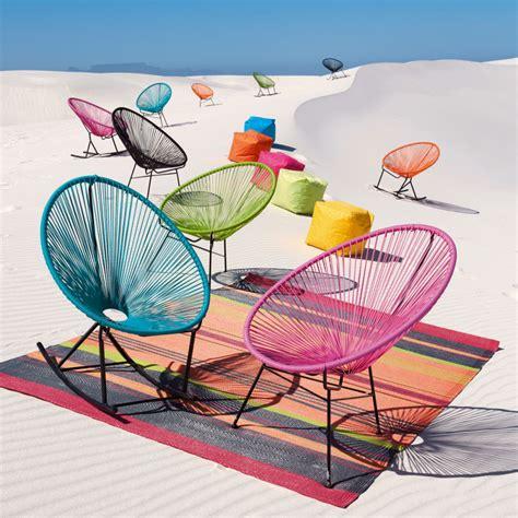 fauteuil de jardin rond turquoise copacabana maisons du monde