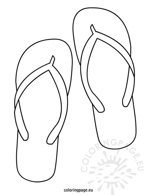 flip flops coloring pages coloring page