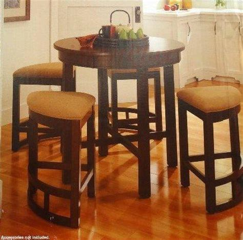 wood counter height dining table broyhill lenoir 5 piece solid wood constructed counter