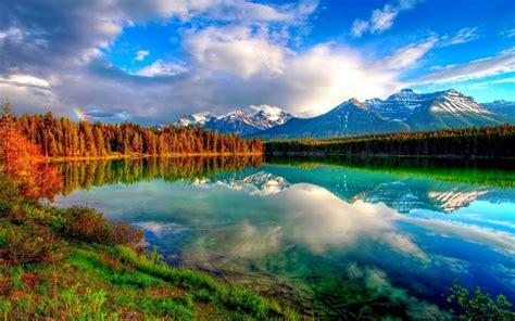 beautiful nature lakes panoramic water hd