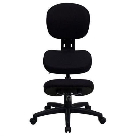 mobile ergonomic kneeling office chair in black wl 1430 gg