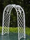 Miniature Dollhouse FAIRY GARDEN Furniture ~ White Wire fairy garden trellises