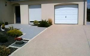 allee de garage en beton desactive par entreprise lepetit With allee de garage en beton