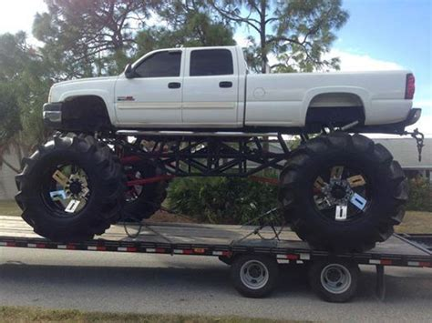 Lifted Chevy Mud Truck