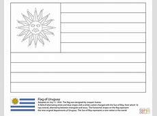 Dibujo de Bandera de Uruguay para colorear Dibujos para