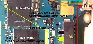 Samsung Galaxy Ace 4 Lte G313 Battery Connector Terminal