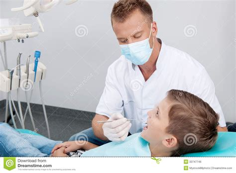 patient at dentist office royalty free stock image