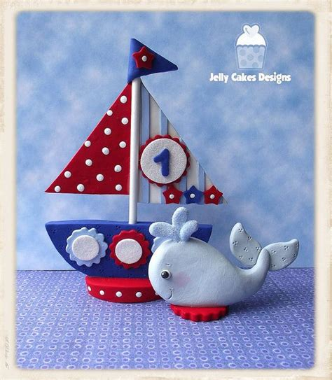Sailboat Cake Topper by Boy S Sailboat Cake Topper Set Sailboat Cake Jelly Cake