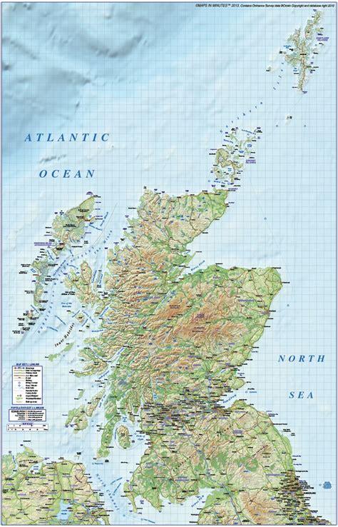 vector digital map  scotland political regions road