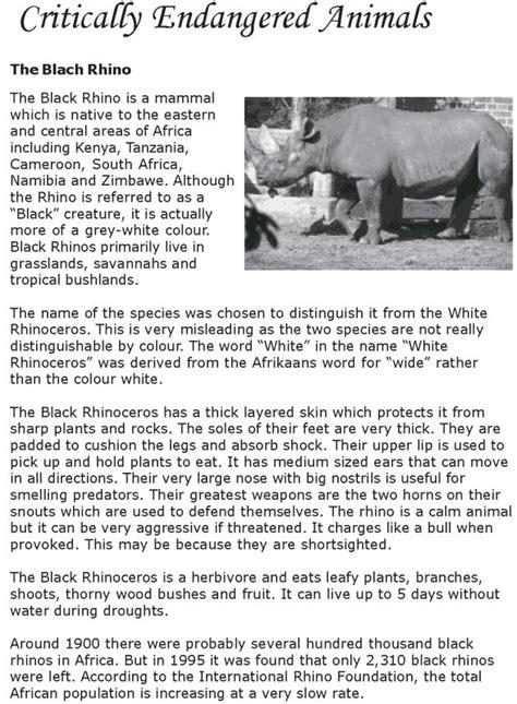 grade  reading lesson  nonfiction critically endangered