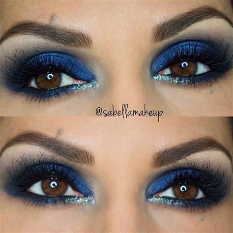 eye makeup   brown eyes stayglam blue eyeshadow makeup rock makeup makeup