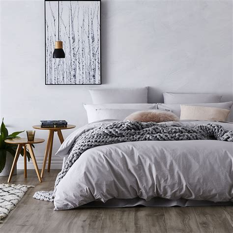 Home Republic  Stonewashed Cotton Quilt Cover Silver