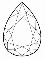 Coloring Gem Drawing Template Pages Diamond Precious Shape Letter Stones Print Gems Gemstone Jewel Facetas Crystal Sheets Templates Getdrawings Sketches sketch template