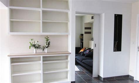 canap avec biblioth que int gr e peinture acrylique meuble bois 4 biblioth232que
