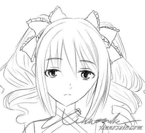 Gambar Sketsa Anime Hitam Putih Pasjonaci Rysowania Stylem Anime