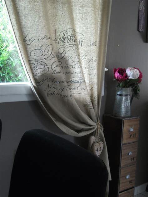 rideaux cuisine rideaux photo 20 26 rideau en toile de jute avec
