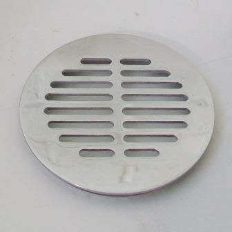 McAlpine Chrome Grill for 90mm Shower Drain Traps